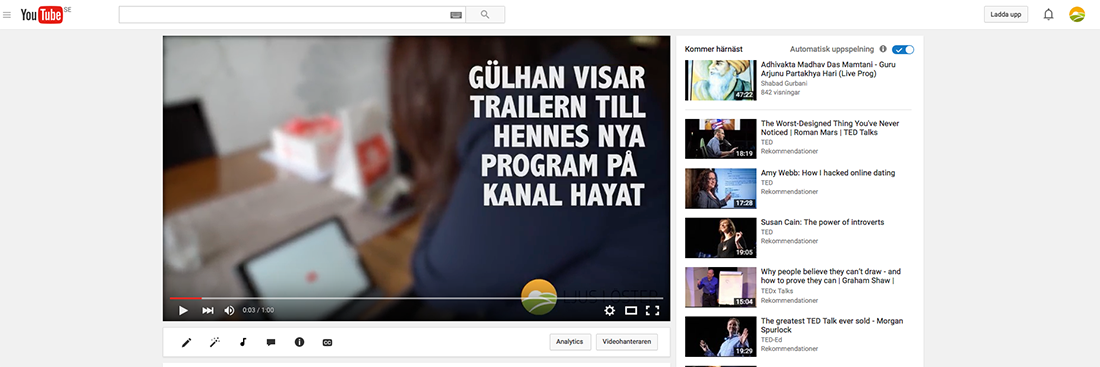 Skärmbild Youtube Gulhan
